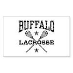 Buffalo Lacrosse Sticker (Rectangle)