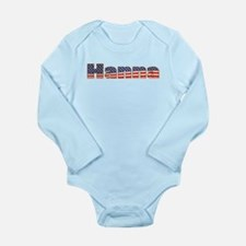 American Hanna Long Sleeve Infant Bodysuit