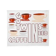 Got twins, need caffeine Throw Blanket