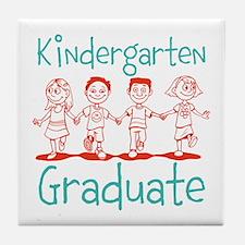 Kindergarten Graduate Tile Coaster
