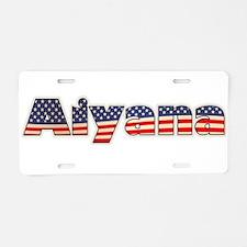 American Aiyana Aluminum License Plate