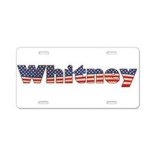 American Whitney Aluminum License Plate