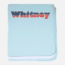 American Whitney baby blanket