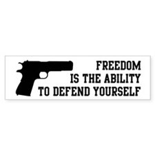 Defend Freedom Bumper Sticker