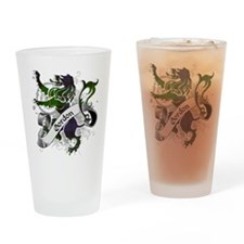 Gordon Tartan Lion Drinking Glass