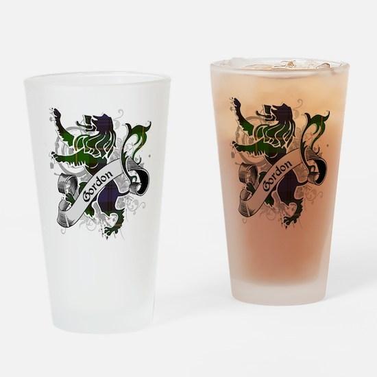 Gordon Tartan Lion Drinking Glass