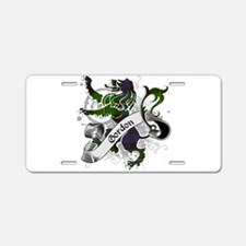 Gordon Tartan Lion Aluminum License Plate