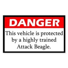 Danger Attack Beagle Decal