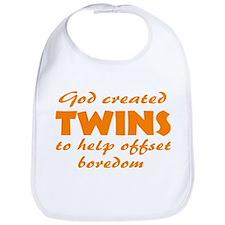 Twins offset boredom Bib