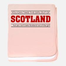 'Girl From Scotland' baby blanket