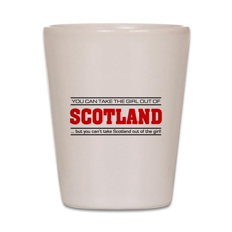 'Girl From Scotland' Shot Glass