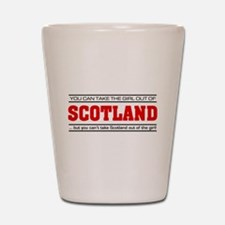 'Girl From Scotland' Shot Glass