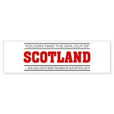 'Girl From Scotland' Bumper Sticker