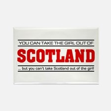'Girl From Scotland' Rectangle Magnet