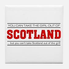 'Girl From Scotland' Tile Coaster