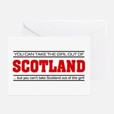 'Girl From Scotland' Greeting Cards (Pk of 10)