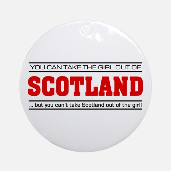 'Girl From Scotland' Ornament (Round)
