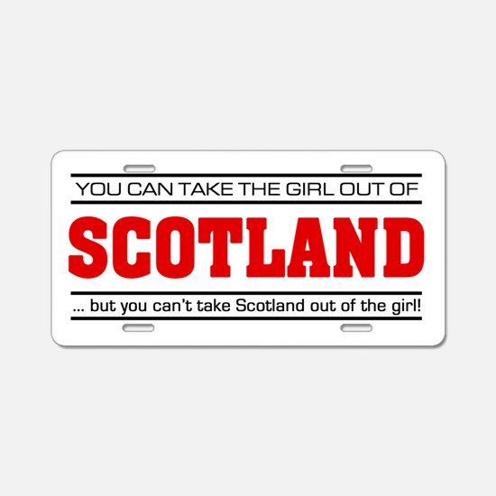 'Girl From Scotland' Aluminum License Plate