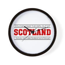 'Girl From Scotland' Wall Clock