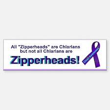 Funny Zipper Sticker (Bumper)