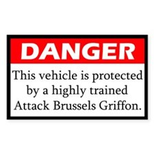 Danger Brussels Griffon Decal