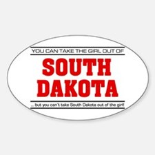 'Girl From South Dakota' Sticker (Oval)