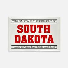 'Girl From South Dakota' Rectangle Magnet