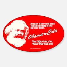 Karl Marx ObamaCola Oval Decal
