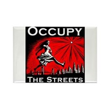 Occupy the Streets Rectangle Magnet