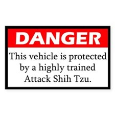 Danger Shih Tzu Decal