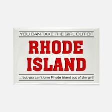 'Girl From Rhode Island' Rectangle Magnet
