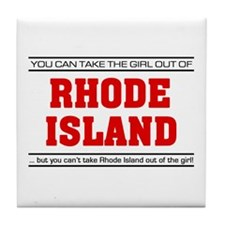 'Girl From Rhode Island' Tile Coaster