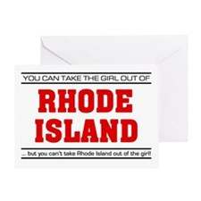 'Girl From Rhode Island' Greeting Card