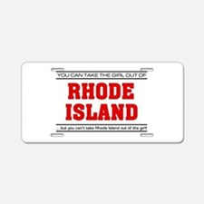 'Girl From Rhode Island' Aluminum License Plate