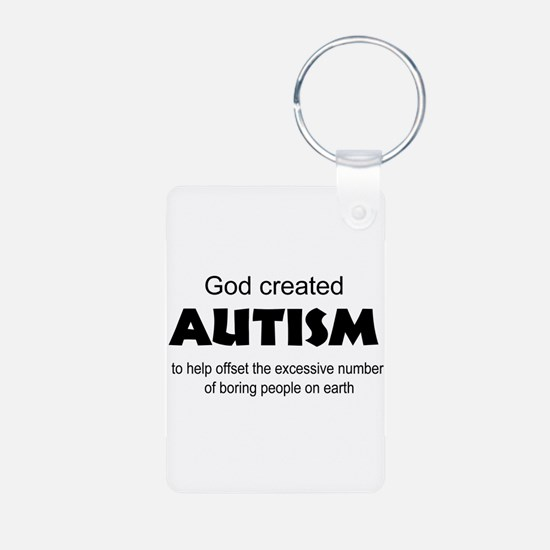 Autism offsets boredom Aluminum Photo Keychain
