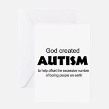 Autism offsets boredom Greeting Card