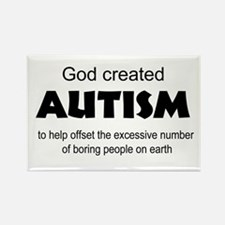 Autism offsets boredom Rectangle Magnet (10 pack)