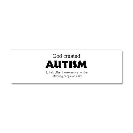 Autism offsets boredom Car Magnet 10 x 3