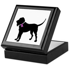 Blood Hound Breast Cancer Sup Keepsake Box