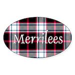 Tartan - Merrilees Sticker (Oval)