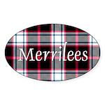 Tartan - Merrilees Sticker (Oval 10 pk)