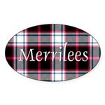 Tartan - Merrilees Sticker (Oval 50 pk)