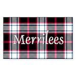 Tartan - Merrilees Sticker (Rectangle)
