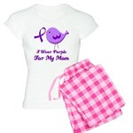 I Wear Purple For My Mom Women's Light Pajamas