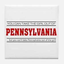 'Girl From Pennsylvania' Tile Coaster