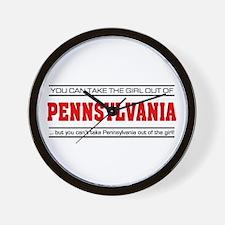 'Girl From Pennsylvania' Wall Clock