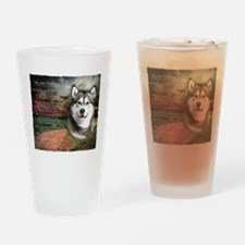 """Why God Made Dogs"" Malamute Drinking Glass"