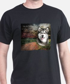 """Why God Made Dogs"" Malamute T-Shirt"