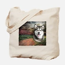 """Why God Made Dogs"" Malamute Tote Bag"