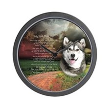"""Why God Made Dogs"" Malamute Wall Clock"